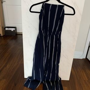 Silence + Noise Striped Jumpsuit
